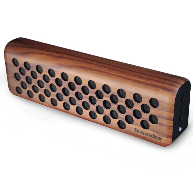 wood wireless bluetooth speaker with 10-Hour Playtime,e & Built-in Mic, Dual-Driver Portable