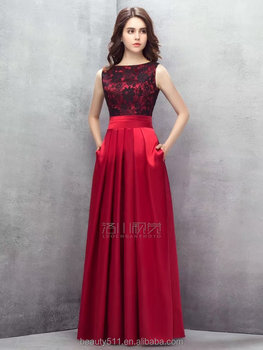New Fashion Sexy Elegant A-line Scoop lace formal long evening dress prom dresses ED581