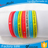 wholesale Bulk cheap silicone wristbands/rubber bracelet/personalized wristbands cheap