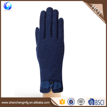 Winter warm ladies smart touch wool gloves with high quality