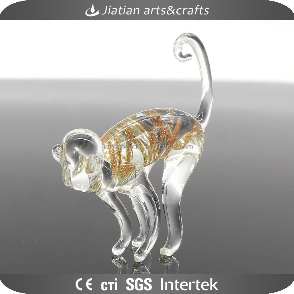 small crystal monkey figurines Lampwork murano miniature blown glass animals figurine 90coe glass wholesale