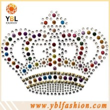 colorful studs crown design rhinestone designs for clothing