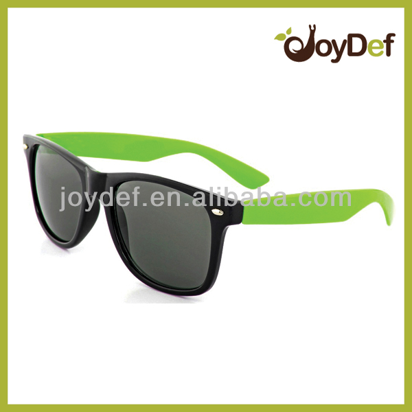 Two Tone Sunglasses Black with Green Hipster Sunglasses