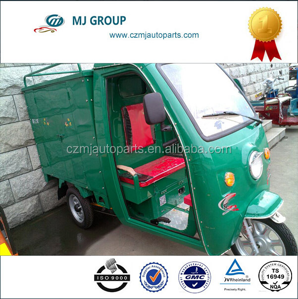 adult Green energy three wheel truck electric trycicle