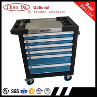 2015 new design professional tool cabinet with stainless top