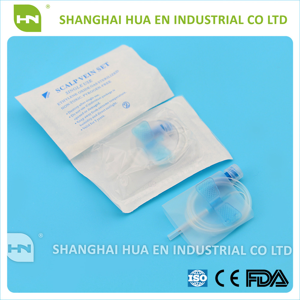 blister packing medical disposable butterfly needle with luer lock