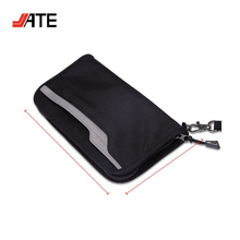 High-Density Nylon Fabric RFID Travel Wallet Passport Holder with Removable Wristlet Strap
