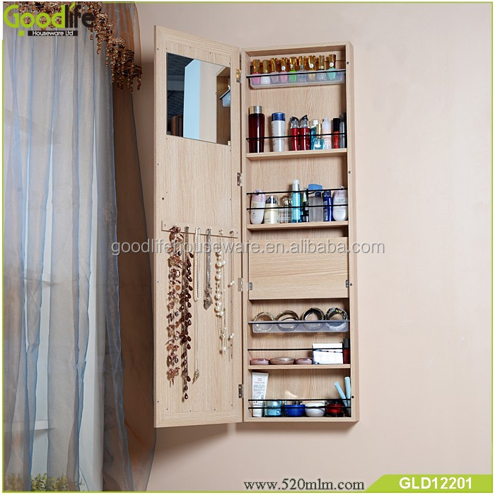 Fashion new design wooden mirror jewelry cabinet for Italy