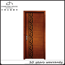 manufacturer swing hotel modern fancy wood casing door design with glossy carving made in china