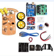 New Avoidance tracking Motor Smart Robot Car Chassis Kit Speed Encoder Battery Box 2WD Ultrasonic module For Uno R3 kit