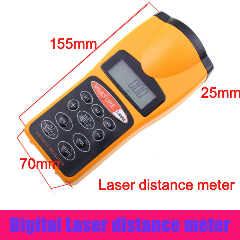 Hand held LCD Ultrasonic Laser Pointer+ Distance Meter #3007