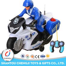 Powerful newest china factory plastic rc rotation toy motorbike for kids