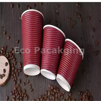8oz/12oz/16oz ripple wrap insulated hot cups recycling