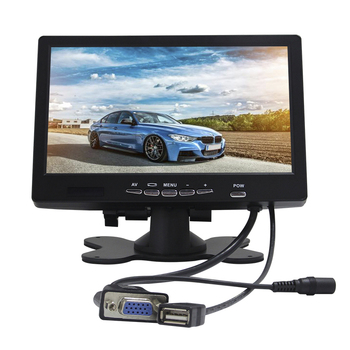 Small size 7 inch touch screen lcd monitor for car pc
