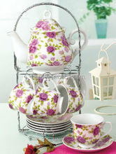 15pcs/17pcs flower design royal porcelain russian tea set