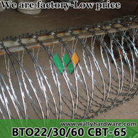 Length per roll Rodent Proof low price concertina drawing razor barbed wire