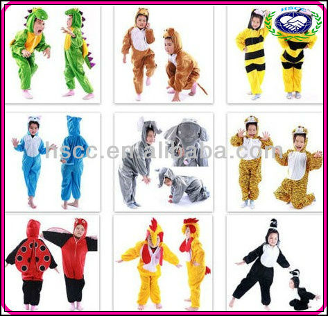 Wholesale Halloween Carnival Christmas Party Supplies for Children Cartoon Rompers Plush Kids Animal Costumes