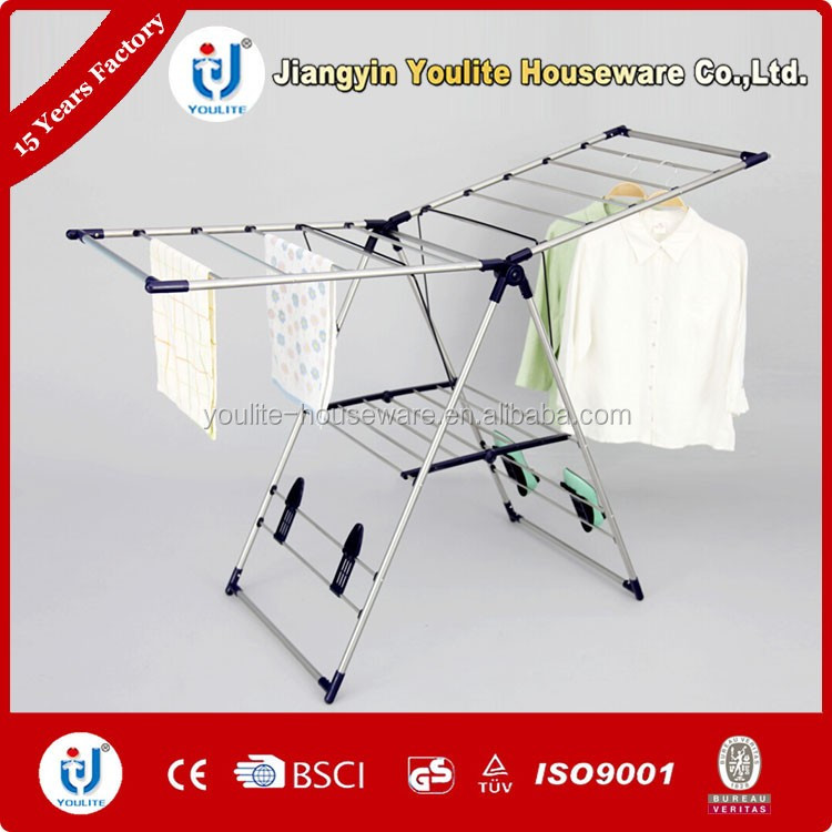 Multi-purpose airfoil frame hanging clothes rack
