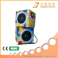 2014 China manufacturer wholesale paper mini speaker, foldable paper speaker, mini speaker folding paper