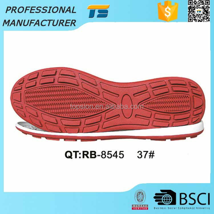 Sport Shoe Sole Manufacturers Recycled Casual Rubber Soles For Sneakers