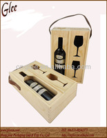 Wood Wine carrier for bottles