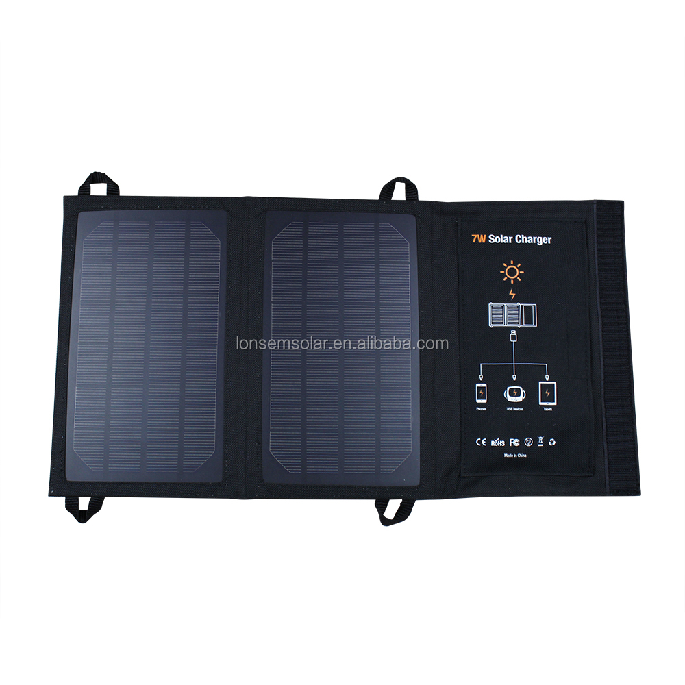 OEM ODM Factory Prices 7W USB 5V Foldable Solar Panel Charger For Cellphones, Power Banks