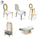 Modern new design velvet leather hotel banquet party event wedding metal rose gold stainless steel chair