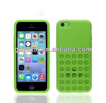 Soft Silicone Original Style Polka Dot Color Case for iPhone 5C,high quality silicone case for iphone 5c