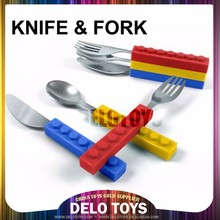 Creative product educational toys building bricks toys silicone knife & fork base plate DE092-2