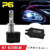 Super bright h7 55w motorcycle round headlight, H7 led conversion kit led headlight bulb