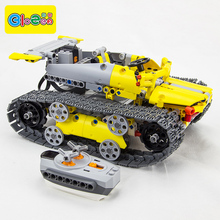 Plastic Electronic Building Blocks Remote Control Tank Stem Toys