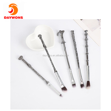 Daywons 5 pcs Set of Harry Potter Design Handle Makeup Brushes Eyeshadow Foundation Eyebrow Makeup Brush Tools