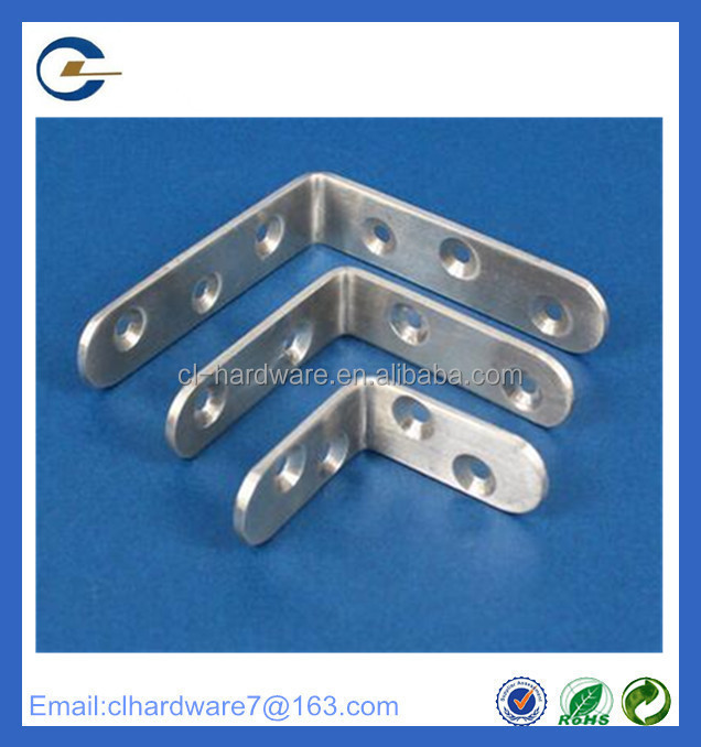 Manufacture supply triangle wall small stainless steel shelf L angle bracket