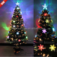 New Design Artificial Fiber Optic Christmas Tree With Led Lights