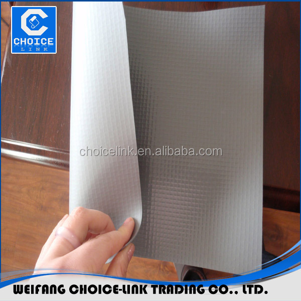 outdoor pvc membrane fabric polyester reinforced PVC roof waterproof membrane