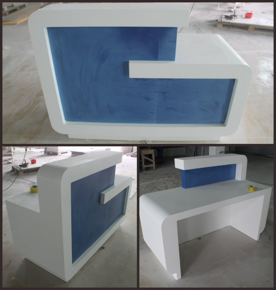 Acrylic Solid Surface Used Reception Desk With Factory Price - Buy