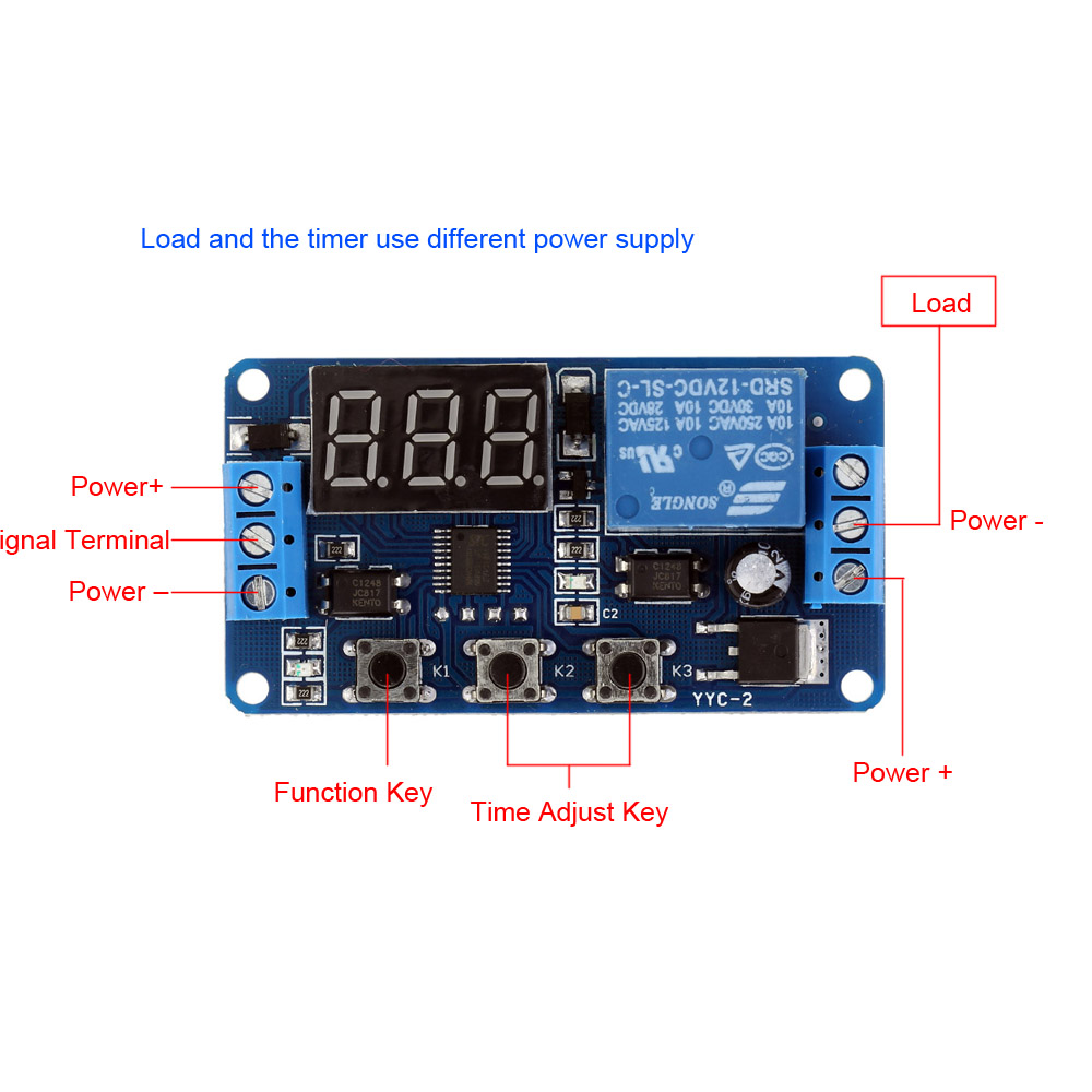 DC12V LED Display Countdown Timing Timer Delay Turn OFF Relay Switch Module Hot