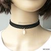 Women Black Lace Chocker Necklace For