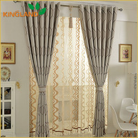 Latest Curtain Designs 2016 Solid Ready Made Jacquard Curtains With Valance