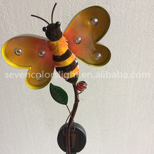 SCL0164 metal solar garden bee lawn stake light