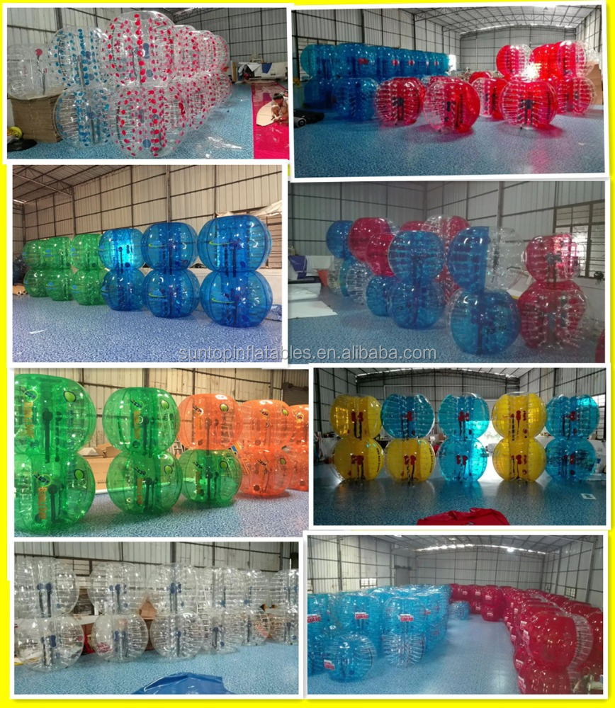Cheaper Inflatable football body zorb ball, bubble ball, bumper ball with PVC/TPU material