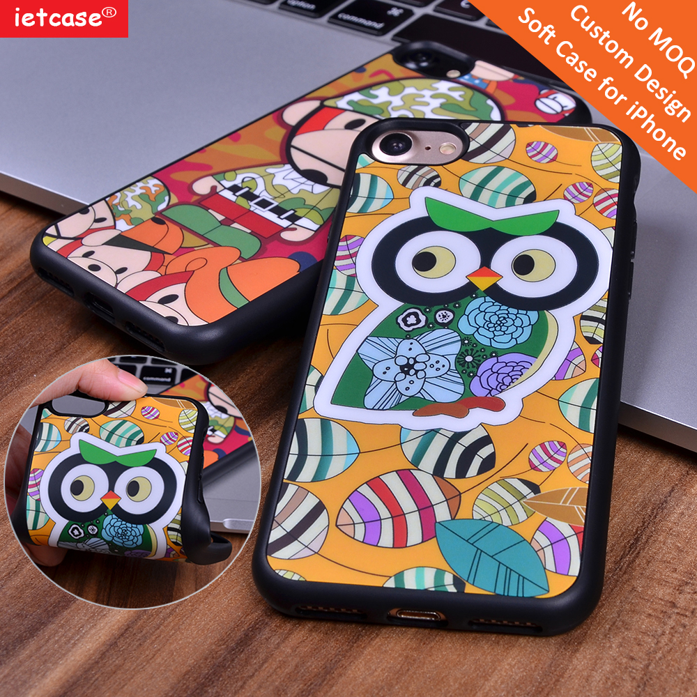 Best selling 2D TPU printing fancy owl design cover for iPhone 6/6s 6 Plus 7 7plus China supplier mobile shell <strong>accessory</strong>