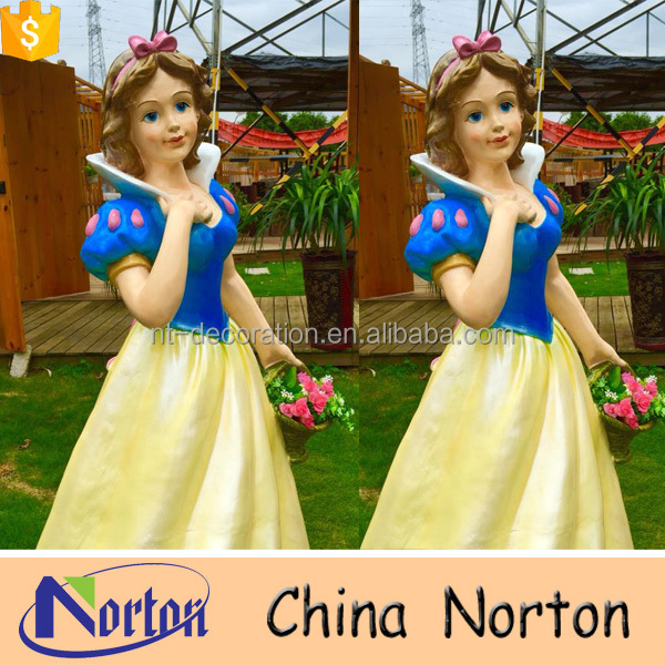 Western design resin snow white garden statue NTRS-CS692A
