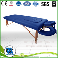 2014 New fashion best selling Luxurious 2 section wooden portable massage table