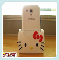 Cheap pvc smart mobile phone stand, kitty cell phone stand on sale