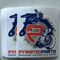 high quality custom design printing stickers and decals for motorcycles
