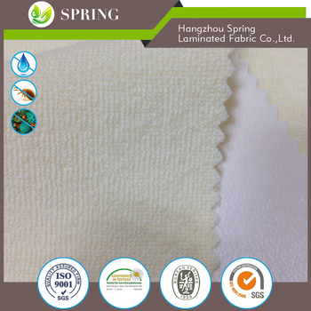 polyester cotton terry cloth waterproof fabric for babr crib