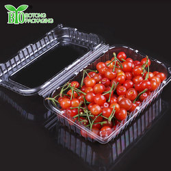 Fresh fruit and vegetable fold up plastic boxes