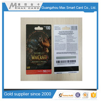 Factory direct sale plastic barcode gift card cheap price