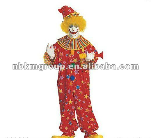 2012 New Design Colorful Clown Adult Costume